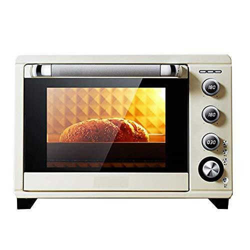 Accueil Cuisine Four Grille-pain Countertop, 38 Litres, 1800W étagère amovible, 8 Preset rapide Fonction Haut et le Bas M-Type de chauffage Tubes, réglage de l'heure (1~120 minutes) Blanc