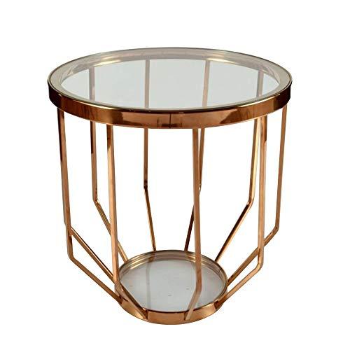 Skrivbord DD högblank glasskiva soffbord, rund sida middag kontor hem ovalt bord vardagsrum möbler - arbetsbänk