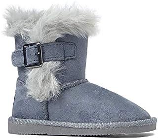 حذاء مسطح مسطح للفتيات والأولاد من REDVOLUTION حذاء شتوي دافئ (طفل صغير/طفل كبير) (طفل صغير 10 B(M)، 420 رمادي)