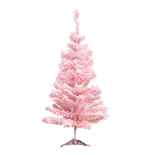 Amosfun Albero di Natale Rosa Albero di Natale Artificiale Decorazioni per la casa per Le Vacanze Simpatico affollamento Albero Decorazione Natalizia 60cm Cedro Rosa