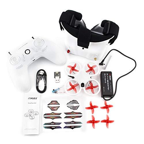 Rikey EMAX Tinyhawk RTF Drone Cuatro Ejes 6 Canales Quadcopter Drone de Carreras al Aire Libre para Interiores con Gafas FPV y Controlador