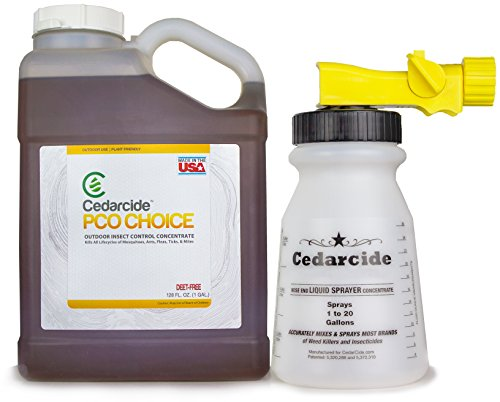 Cedarcide PCO Gallon Outdoor Concentrate Kills Fleas, Ticks, Ants, Mites, & Mosquitoes Made in USA