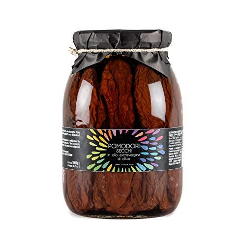 Cuvea - Tomates secos italianos en aceite de oliva virgen extra 1 kg Cuvea - Tomates secos 100% italianos - Sin conservantes ni colorantes: solo 3 ingredientes