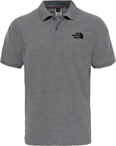 THE NORTH FACE Herren Piquet Poloshirt, TNF Medium Grey Heather (Std)/TNF Black, M