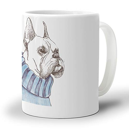 Funny Mug Novelty Coffee Mug for Women Men English Bulldog Large Ceramics Teacup for Cocoa Water Milk Juice