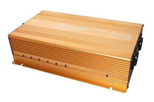 Wechselrichter - Spannungswandler 12V 300 bis 3000 Watt reiner SINUS mit echtem Power USB 2.1A Gold Edition … (2500-5000 Watt)