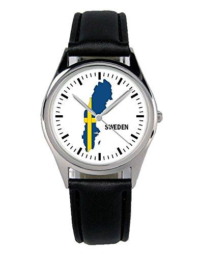 Schweden Geschenk Artikel Idee Fan Uhr B-1102