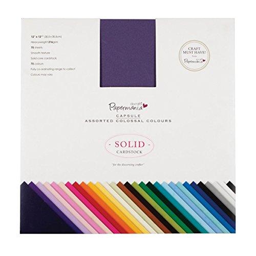 Do Craft PMA 164400 - Bloc de cartulinas de colores (30.5 x 30.5 cm, 75 unidades)