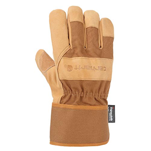 Insulated System 5 Work Glove with Safety Cuff, M, Brown