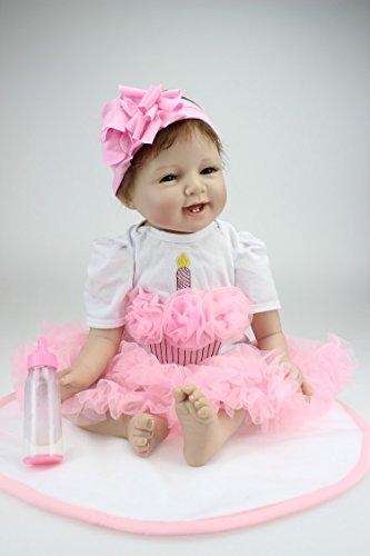 ZIYIUI Doll Pulgadas Lifelike Reborn Bebé Muñecas Vinilo de Silicona Realista Hecho a Mano Bebés para Niñas Juguetes Reborn Baby Dolls 55cm, Conveniente