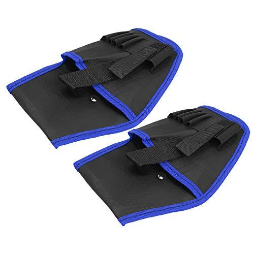 DAUERHAFT Bolsa de cinturón de Herramientas de Electricista Bolsa de cinturón de Taladro eléctrico Cinturón de Cintura Ajustable Engrosado para almacenar Brocas y(Blue Edge)
