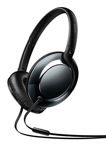 Philips SHL4805DC Flite Everlite Over-Ear Kopfhörer mit Mikrofon (Federleicht, Metallic Design, Faltbar) schwarz