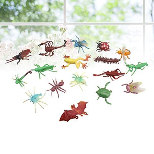 100pcs Streich-Spielzeug Mini Simulation Creepy Bugs Tier Tricky Gag-Spielzeug-Abbildung Kind-pädagogische Spielzeug for Halloween Party Decor zcaqtajro