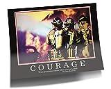 GREAT ART Courage Poster Originale - Barney Stinson Fotomurale - 85 x 60 cm Vigili del Fuoco Come Ho Incontrato Tua Madre Motivazione Barney Stinson Ufficio Immagini Coraggio - No. 10