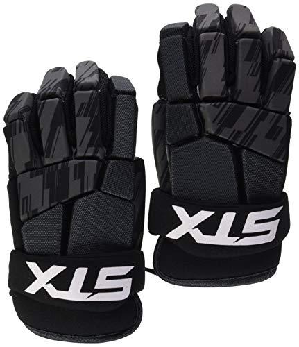 STX Lacrosse Stallion 75 Gloves, Black, Large, Pair