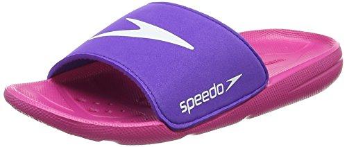 Speedo Unisex-Kinder Atami Core Slide Jf Dusch- & Badeschuhe, Pink Electric Pink Deep Lilac 000, 31 EU
