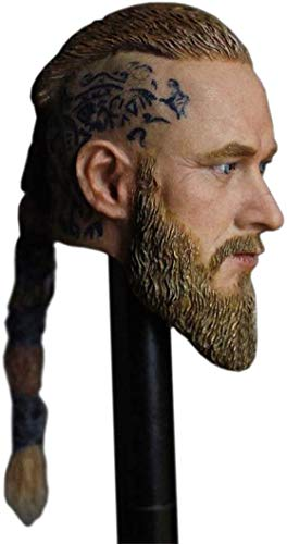ZSMD 1/6 Scale Male Figure Head Sculpt Doll Head with Pigtails for 12' Action Figure Soldier Model
