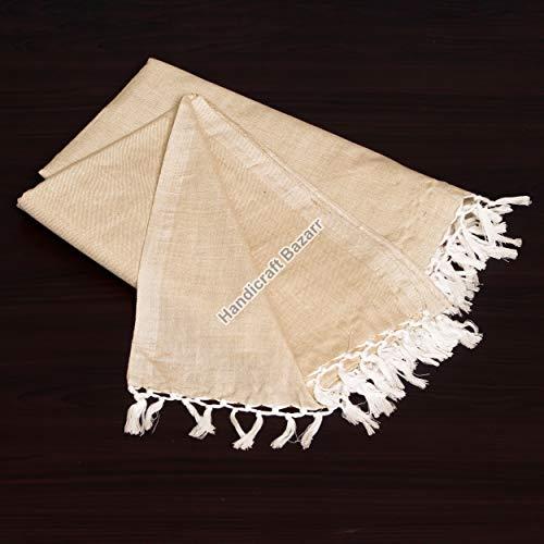 Handicraft Bazarr Tapiz Borla Funda de edredón de algodón reversible para cama de 200 x 50 cm