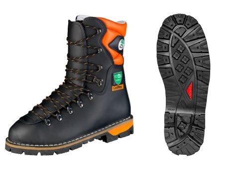 TREEME 1102 Forstschutz-Stiefel, Schwarz-orange, 42