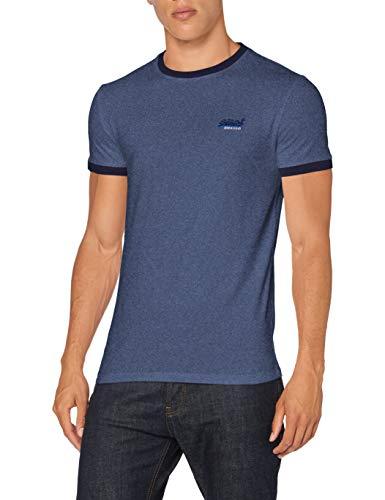 Superdry Men's Ol Ringer Tee T-Shirt, Vintage deep Blue grit, M