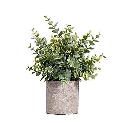 HC STAR Artificial Plant Potted Mini Fake Plant Decorative Lifelike Flower Green Plants (Green)