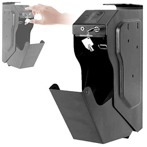 LXNQG Portátil Caja de Seguridad para Pistola, Caja de Seguridad Biométrica de Huellas Dactilares, Desbloqueo Rápido de Huellas Dactilares, Caja Fuerte Portátil para Dinero