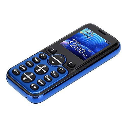 Bluetooth Mini mobiele telefoons - GSM Bluetooth Handset telefoon Oortelefoonkiezer, GSM/GPRS 850/900/1800/1900MHz, Quad Band Dual Card Dual Standby mobiele telefoon(Blauw)