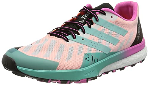 adidas Terrex Speed Ultra W, Zapatillas de Trail Running Mujer, FTWBLA/MENACI/ROSCHI, 38 EU