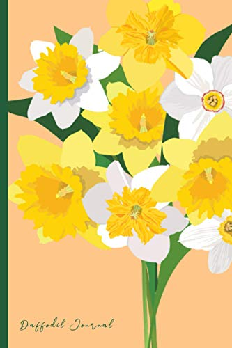 Daffodil Journal: Portable 6x9' - 120 Lined Pages Journal Notebook