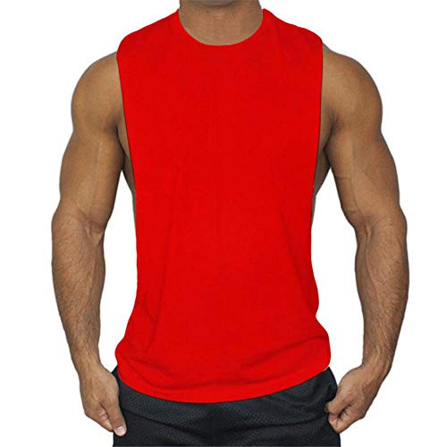 KFBSHEEF Nuevo Summer Running Vest Sport Gym Tank Tops Hombres Algodón Sport Camiseta sin Mangas Fitness Hombres Tanktop Bodybuilding Tanktop-Color7_Metro