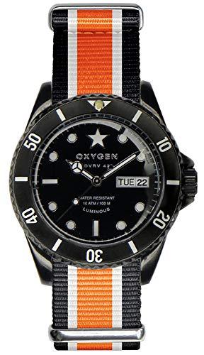 Oxygen Unisex-Armbanduhr Black Cat Analog Quarz Nylon EX-DV-CAT-42-NN-BLIVOR