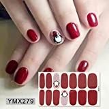 Foil Nail Art 14 Tips Full Wraps Nail Polish Stickers Cute Animals Pattern Autoadhesivo Nail Art Decals Strips Manicure-YMX279-