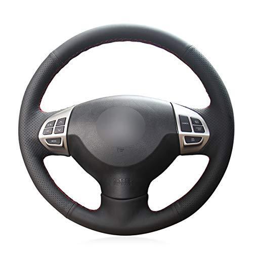 Brillante trigo negro cuero artificial cubierta del volante para Mitsubishi Lancer EX 10 Lancer X Ou