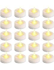 Velas LED, ZoneYan Velas LED Con Pilas, Velas LED Sin Llama, Velas LED Sin Fuego, Luces de Té Sin Llama 20 pce, Halloween, Navidad, Decoración de Cumpleaños