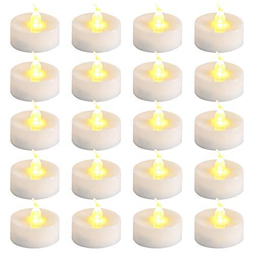 Velas LED, ZoneYan Velas LED Con Pilas, Velas LED Sin Llama, Velas LED Sin Fuego, Luces de Té Sin Llama 30 pce, Halloween, Navidad, Decoración de Cumpleaños