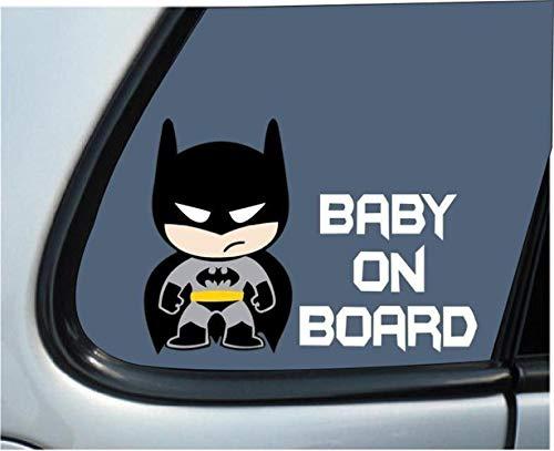 Etiqueta engomada de la pared de Batman Batman Baby Kids a bordo para Apple Macbook Pro Air Notebook Reflective Car Decal Sticker Pegatinas de coches