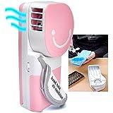 QUMOX Mini Fan Ventilador de Aire de Mano Mini refrigerador portátil USB Recargable, Rosa