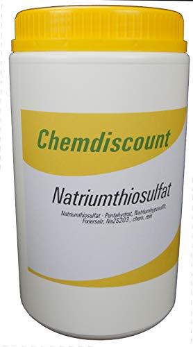 1kg Natriumthiosulfat (-penthydrat), Na2S2O3, Fixiersalz, chem. rein.