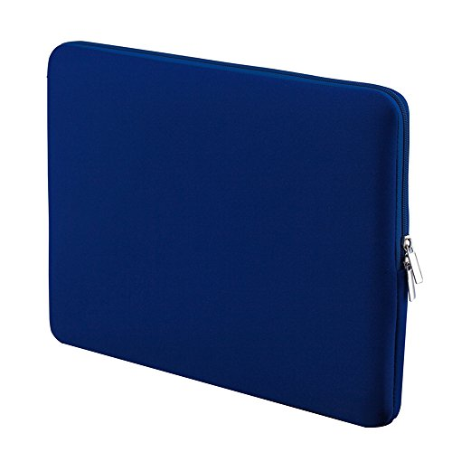 Phomnd Bolsa de manga macia com zíper 15 '' - 15,6 '' Bolsa Compatible with laptop portátil Substituição Compatible with laptop MacBook Pro Retina Ultrabook azul escuro