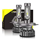 H4 9003 HB2 LED Headlight Bulb, CAR ROVER 50W 10000Lumens Extremely Bright 6000K CSP Chips Hi/Lo Beam Conversion Kit