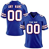 Custom Football Team Jersey Personalized Stitched Team&Your Name and Number for Men/Women/Youths,Gift Fans