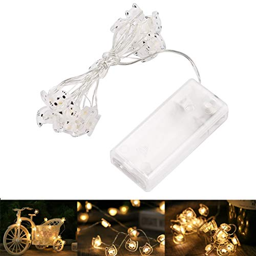 NL Cat Shape 20 LED Fairy Lights,Party Battery Operated String Lighting Decoration for Christmas Wedding Party Home Interior
