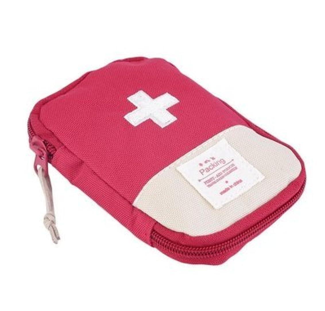 葉っぱできれば福祉メディカルポーチ ミニ救急箱 応急処置バッグ 軽量 携帯用救急箱