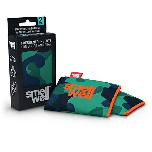 SmellWell Trocknungs- und Erfrischungskissen für Schuhe, Sporttaschen oder sogar das Auto - versetzt mit einem frischen Duft (Camo Green)