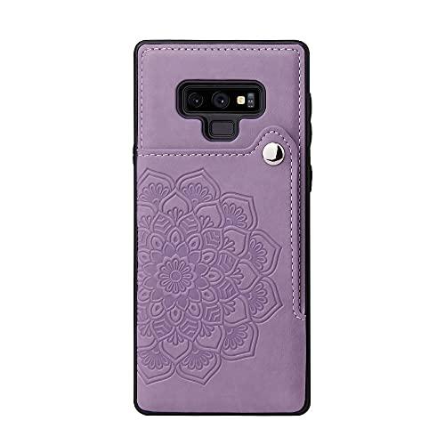 Funda protectora, Para Samsung Galaxy Note9 Teléfono Teléfono Teléfono Titular de la Caja, Botones Magnéticos de cuero PU Abraquera a prueba de choques Funda protectora para Samsung Galaxy Note9