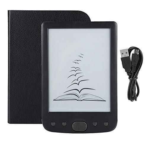 Plyisty E-Reader, E-Reader multilingue da 6 Pollici con Schermo E-Ink, E-Book Reader, Display con risoluzione 800x600, E-Book Reader di Facile Lettura Lettore di Libri elettronici con Scheda (Nero)