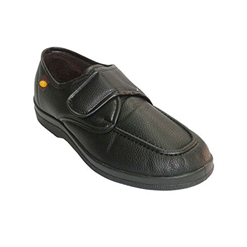 Zapatilla Hombre simulando Zapato con Velcro Doctor Cutillas en Negro Talla 44