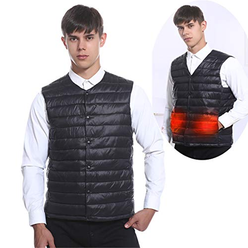 ZXLLAFT Heated Vest Heating Jacket for Women Men Electric USB Charged Warm Gilet for Outdoor Camping Hiking Hunting(No Battery),M