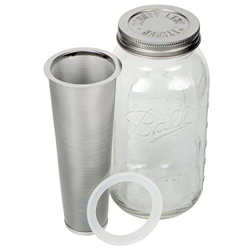 Country Line Kitchen Cold Brew Mason Jar Coffee Maker