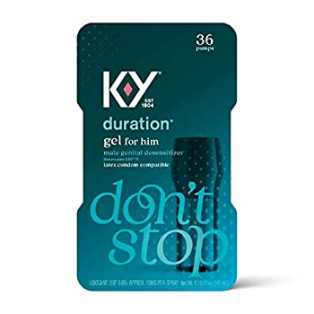 Duration Gel for Men K-Y Male Genital Desensitizer Numbing Gel to Last Longer 0.16 fl oz 36 Pumps Made with Benzocaine to Help Men Last Longer in Bed  Packaging May Vary